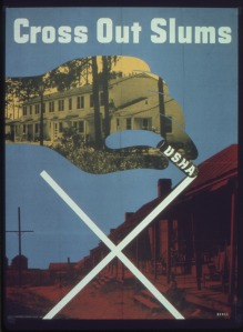 1940s US Housing Authority poster (National Archives and Records Administration)