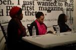 From left, panelists Tyra Owens, Rashayla Marie Brown, and Audrey Petty (Maya Dukmasova)